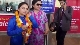 देश को गर्व है तुम पर! कॉमनवेल्थ गेम्स में कांस्य पदक जीतकर जयपुर लौटीं शूटर अपूर्वी चंदेला
