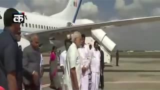 प्रधानमंत्री नरेंद्र मोदी पहुंचे चेन्नई, एयरपोर्ट पर हुआ स्वागत