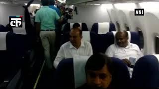एचडी कुमारस्वामी, जेडी (एस) विधायक बोर्ड हैदराबाद-बेंगलुरु गए