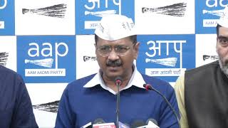 AAP National Convenor Arvind Kejriwal Addressed Media on Upcoming Lok Sabha Election