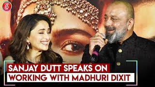 Sanjay Dutt SPEAKS On Working With Madhuri Dixit In Kalank | Kalank Teaser Launch