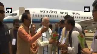 मुख्यमंत्री शिवराज राजगढ़ में प्रधान मंत्री मोदी