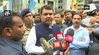 महाराष्ट्र के मुख्यमंत्री चार्टर्ड विमान दुर्घटना स्थल का किया निरिक्षण