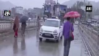 भारी वर्षा राजौरी में नदी में बाढ़