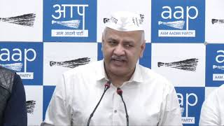 AAP Senior Leader Manish Sisodia Briefs Media on Voter Deletion