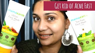 Get Rid of Acne Fast | Mama Earth Face Wash Review | Nidhi Katiyar