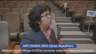 National Award 2018 Winner for Inclusive Voter Education and Outreach