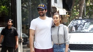 Karan Deol Along With Sahher Spotted At Silver Beach Cafe Juhu