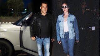 Dashing Salman Khan And Katrina Kaif Leaves To Dubai For Dabangg Tour, Spotted At Airport