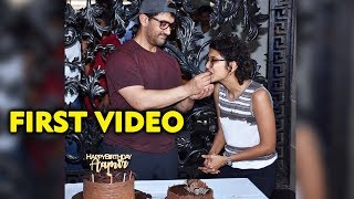 FIRST VIDEO: Aamir Khan Cutting Cake With Kiran Rao And Media | 54th Birthday Celebration