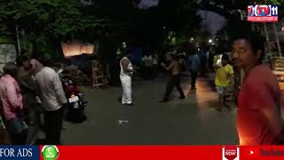 STREET ROWDYS FIGHT EACH OTHER IN AREAL STREET, VISAKHAPATNAM
