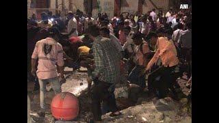 Mumbai- Footover bridge outside CST Railway Station collapses