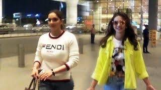 Sania Mirza And Rakul Preet Spotted At Mumbai Airport