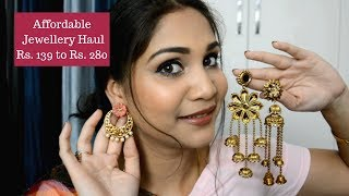 Affordable Jewellery Haul | Flat 30% off on Cuffsnlashes | Nidhi Katiyar