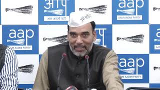 AAP Delhi Convenor Gopal Rai Briefs on Statement Given By Sheila Dixit & Manoj Tiwari