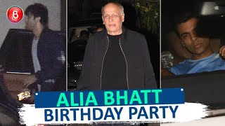 Alia Bhatt Celebrates Birthday With BF Ranbir Kapoor Karan Johar & Family