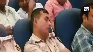 पटना : सुरक्षा को लेकर निर्देश देते रहे डीआईजी, झपकी लेती रही पटना पुलिस