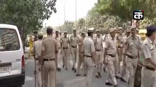 कांग्रेस के प्रदर्शन के दौरान कड़ी की गई CBI मुख्यालय की सुरक्षा