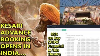 KESARI Movie Advance Booking Is 85 Percent  Full In This Theatre