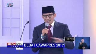 Pidato Penutup Sandiaga Uno di Debat Cawapres 2019