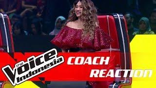 Tidak Bisa Menahan Diri, Ini Yang Dilakukan Titi DJ! | COACH REACTION | The Voice Indonesia GTV 2018