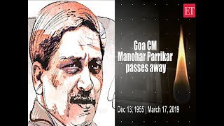 Goa CM Manohar Parrikar passes away at the age of 63