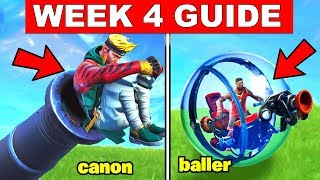 Fortnite ALL Season 8 Week 4 Challenges Guide! Search Buried Treasure, Launch yourself Pirate Canon