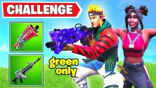 Winning only with Green Weapons Challenge - Going Green LTM (Outlast 90 opponents in a Single match)