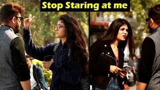 STARING AT CUTE GIRLS | Prank with a Twist | Unglibaaz