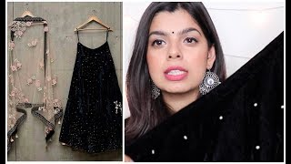 Designer Velvet Lehenga UNDER RS.2000 || Review & Try - On || Ethnicroop