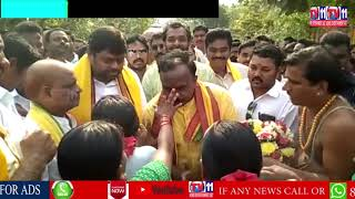 GOVINDA SATHYANARAYANA STARTED ELECTION CAMPAIGN BY COMPLETING POOJA IN SURYANARAYANA SWAMY TEMPLE.