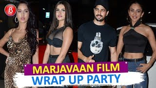 Alleged Couple Sidharth Malhotra & Tara Sutaria Party Hard With 'Marjaavaan' Team