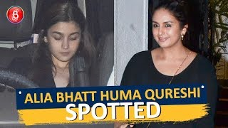 Alia Bhatt & Huma Qureshi Spotted Around Town