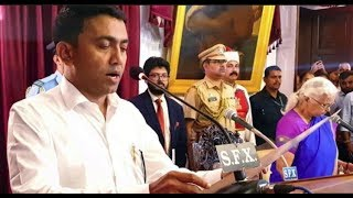 Early Morning Swearing In Ceremony Of Pramod Sawant As Goa CM