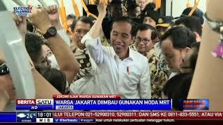 Jajal MRT, Jokowi: DKI Akan Terapkan ERP, Kita Paksa Pemilik Mobil Beralih ke MRT