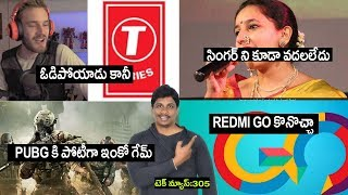 Technews in telugu 305- Call of Duty Mobile,pewdiepie vs t series,Indian Idol Avanti Patel,redmi go