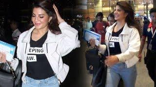 Stunning Jacqueline Fernandez Snapped At Mumbai Airport