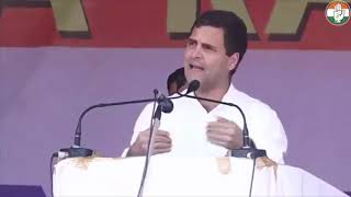 Congress President Rahul Gandhi addresses public meeting in Itanagar, Arunachal Pradesh