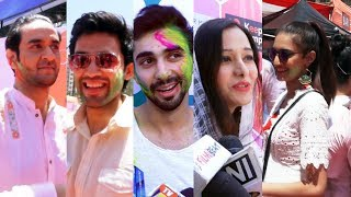 TV Celebs At Ekta Kapoor & Anand Mishras Holi Celebration 2019 | Vikas Gupta, Erica Fernandes