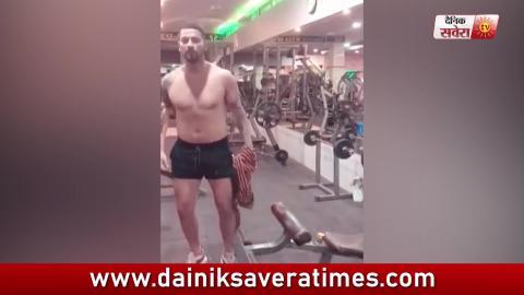 Garry Sandhu ਨੇ Work Out ਤੋਂ ਬਾਅਦ ਕਿੱਤੀ ਆਪਣੀ Body Flaunt | Dainik Savera
