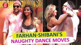 Farhan Akhtar-Shibani Dandekars Naughty Dance Moves During Holi Celebrations