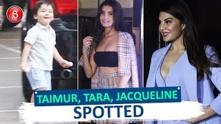 Taimur Tara Sutaria & Jacqueline Fernandez Spotted Around Town