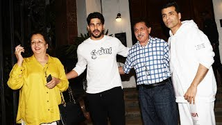 Karan Johar And Sidharth Malhotra With Family Spotted At Ministry Caves Khar