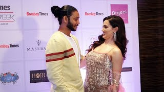 Lovebirds Sana Khan And Melvin Louis At Bombay Times Fashion Week Spring Summer 2019