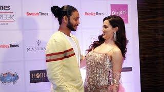 Lovebirds Sana Khan And Melvin Louis At Bombay Times Fashion Week Spring Summer 2019
