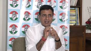 Randeep Singh Surjewala addresses media at 58 South Avenue