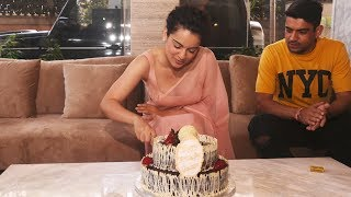Kangana Ranaut Celebrates Her birthday | Cake Cutting | Full Video