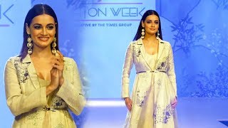 Dia Mirza Ramp Walk At Bombay Times Fashion Week Spring Summer 2019