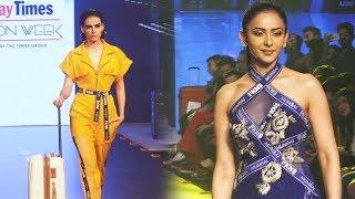 Mandana Karimi And Rakul Preet Singh RAMP WALK At Bombay Times Fashion Week Spring Summer 2019