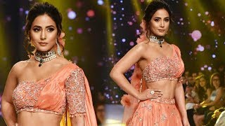 Hina Khan Ramp Walk At Bombay Times Fashion Week Spring Summer 2019